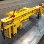 Palonnier pour essieux avec protection prise chariot élévateur