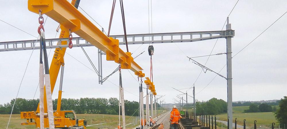 Elinguage sur chantier ferroviaire