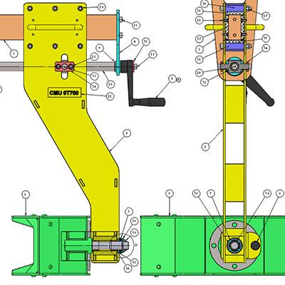 Modélisation et plans d'appareils spéciaux
