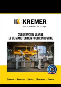 Kremer Solutions de levage et de manutention pour l'industrie - couverture
