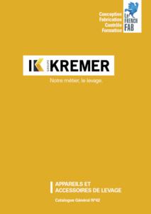 Catalogue général KREMER N°42 - couverture
